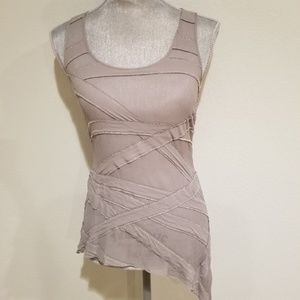 GUESS by MARCIANO Grey Tank Top  with Beads
